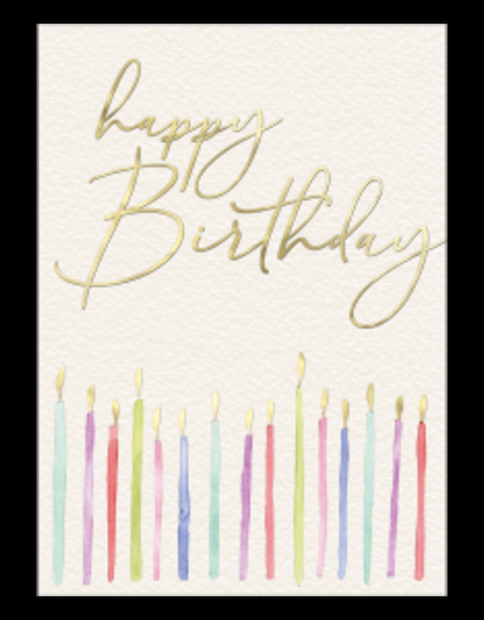 - Happy Birthday Candles Card