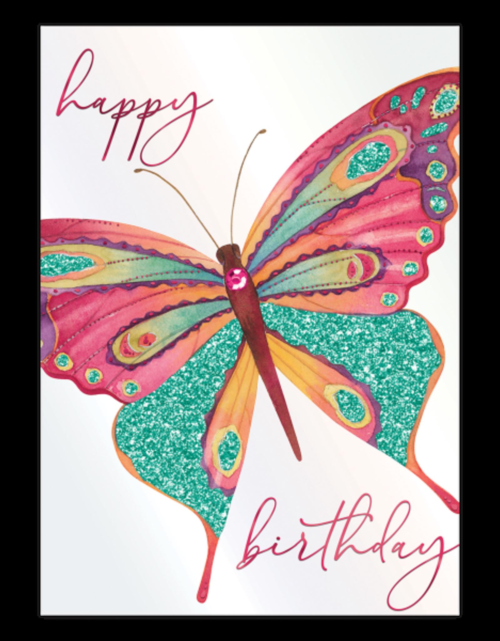 - Glitter Butterfly Birthday Card