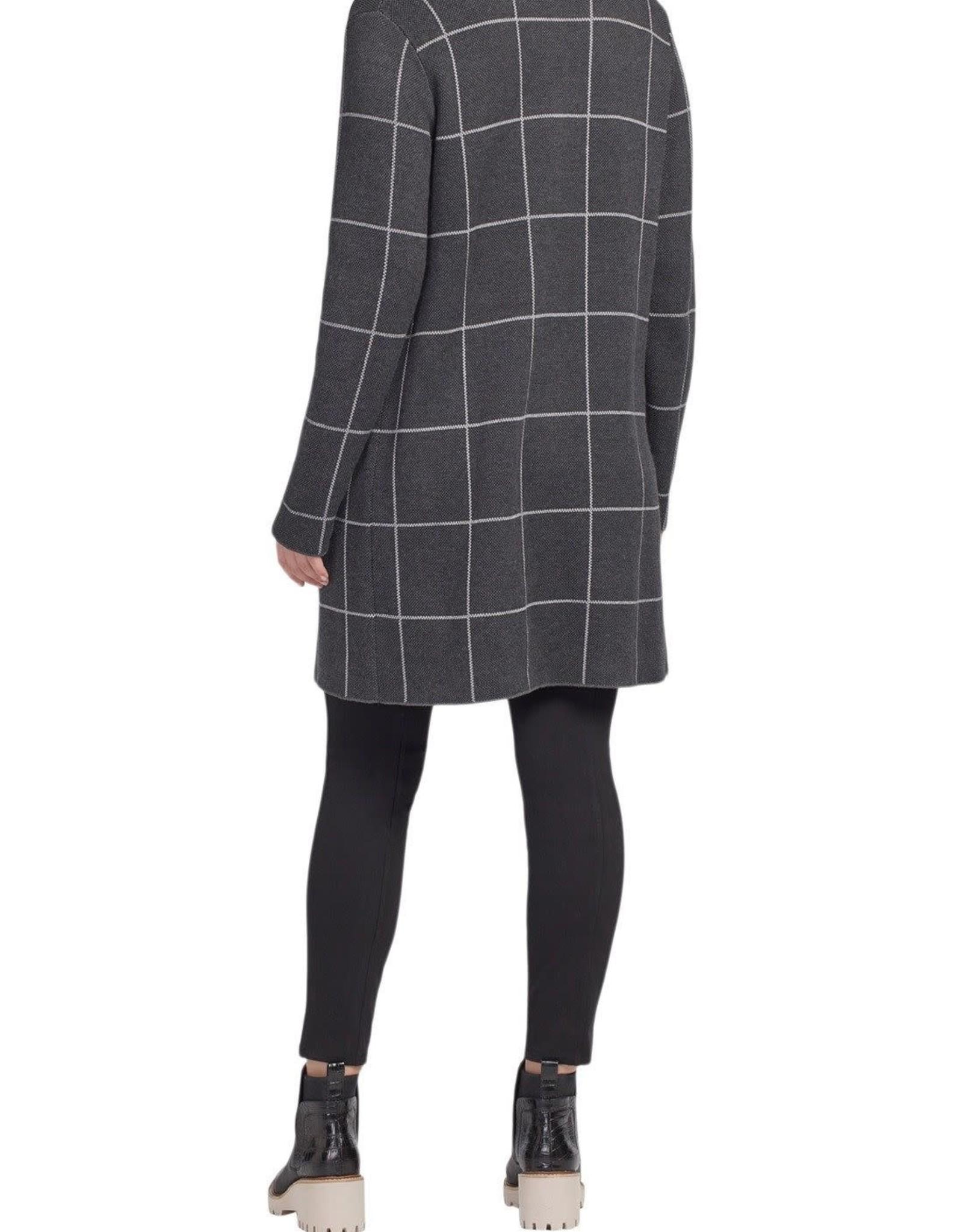 Tribal Charcoal Long Sleeve Single Breasted Overcoat