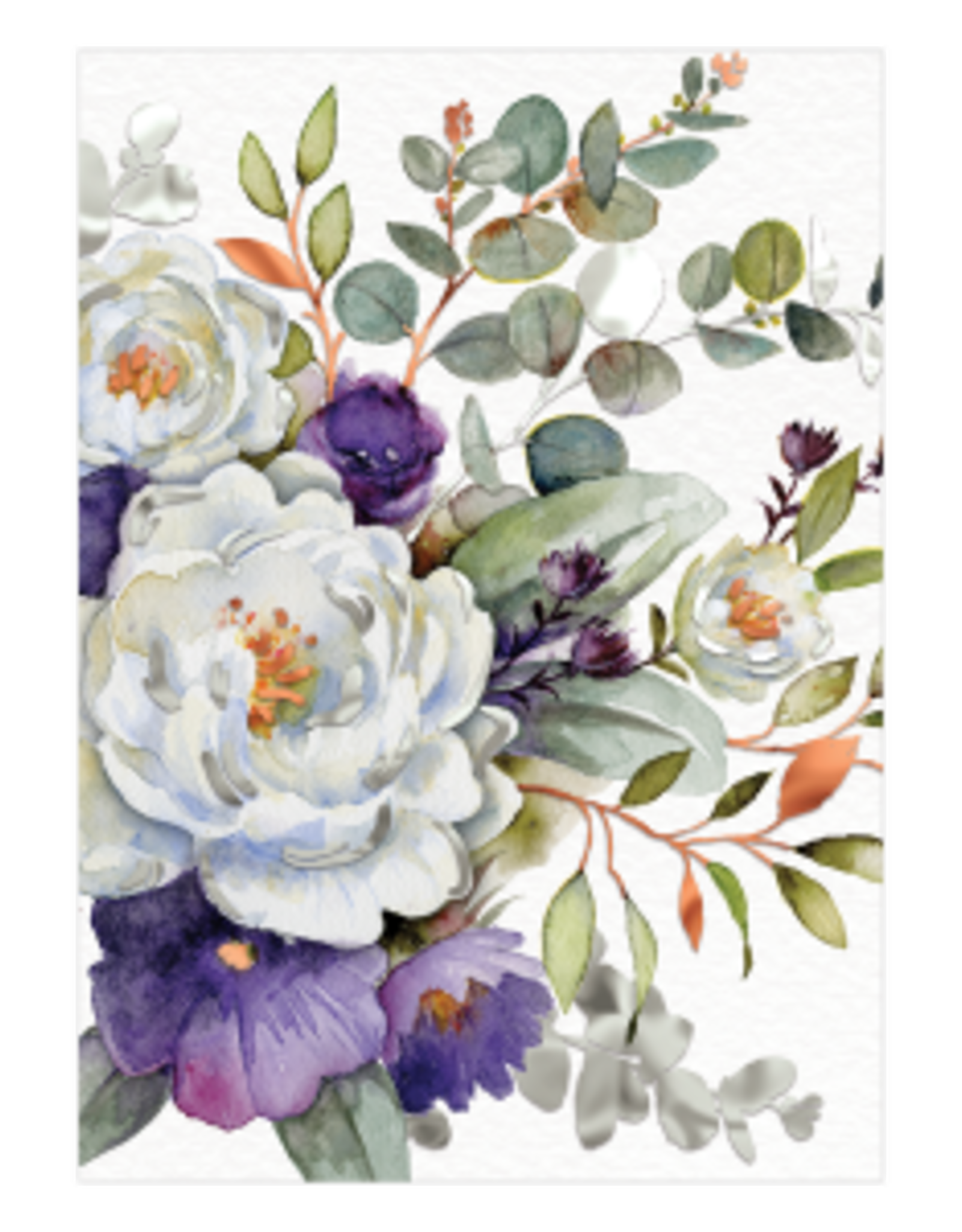 - Purple Bouquet Thinking of You Card