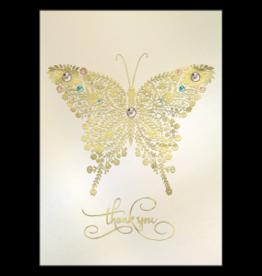 - Golden Butterfly Thank You Card