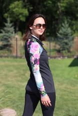 - Cowl Neck Tunic w/Multi Color Sleeve
