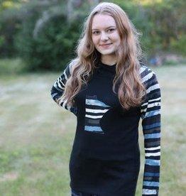 - MN Yoga Hoodie w/Stripe Sleeve