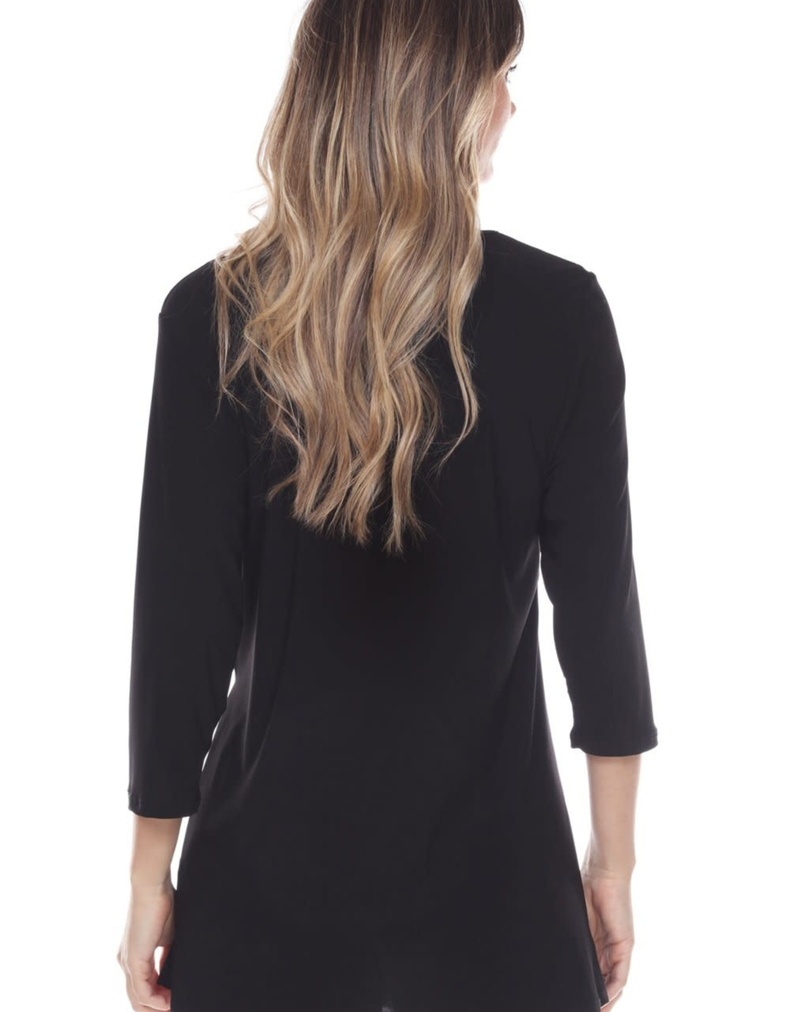 - Black 3/4 Sleeve Tunic w/Side Tie