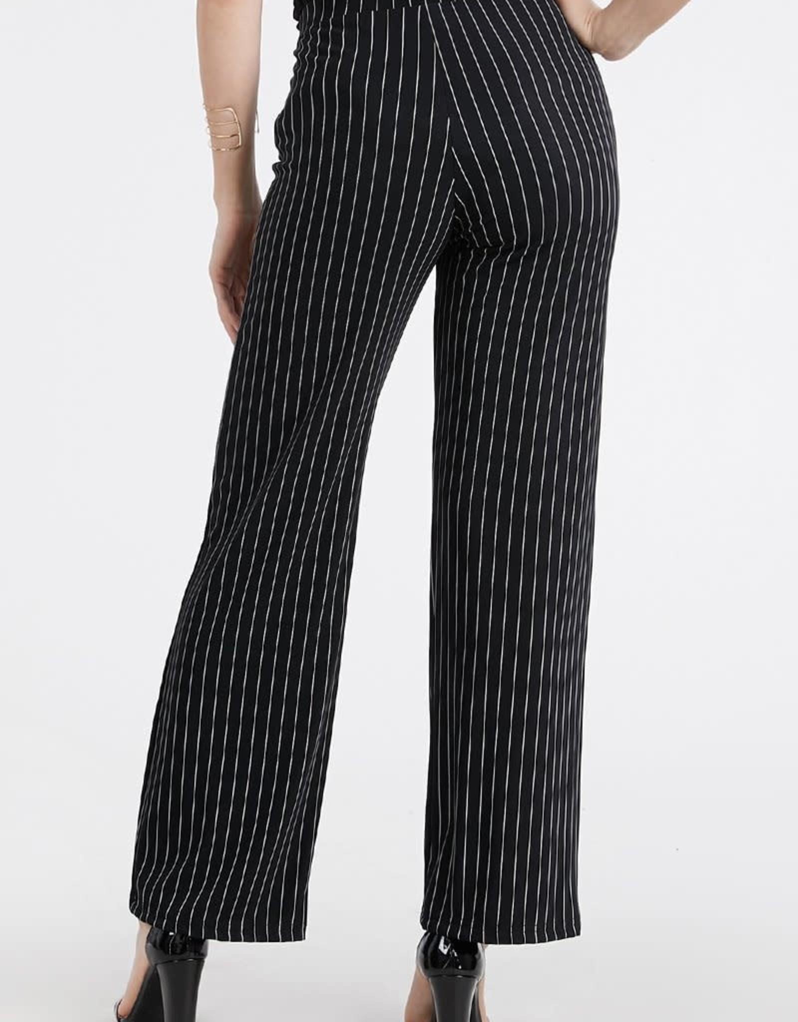 - Black/White Stripe Straight Leg Pant
