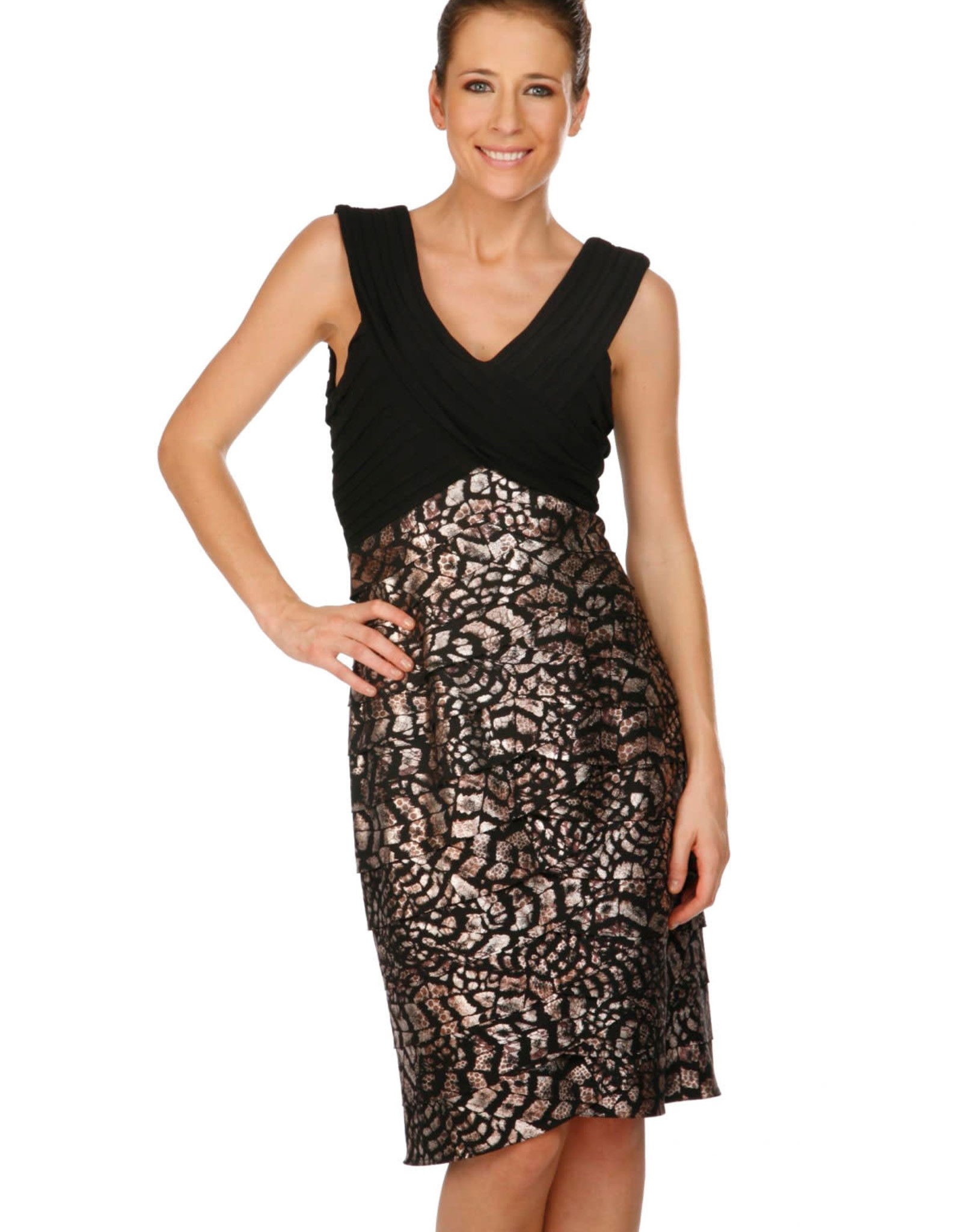 - Black & Metallic Bottom Tank Dress