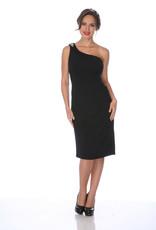 - Black One Shoulder Dress w/Bling