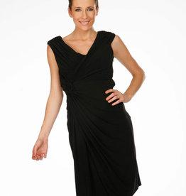 - Black Wrap & Flower Tank Dress