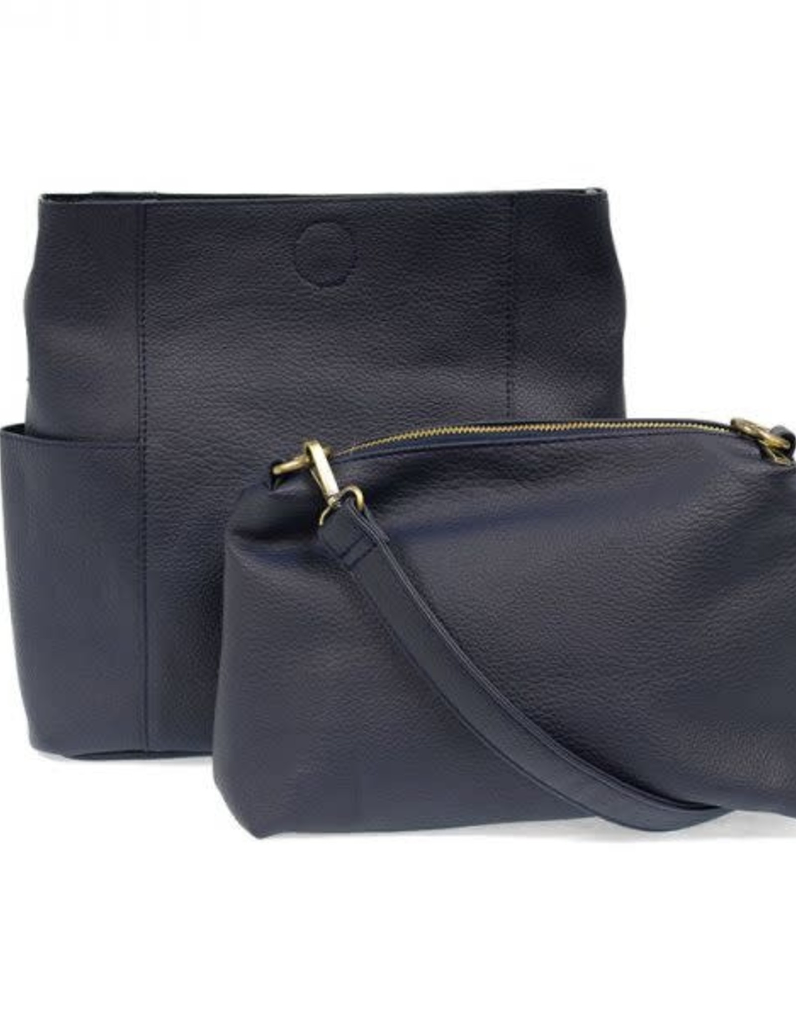 Navy Kayleigh Side Pocket Bucket Bag Set of 2