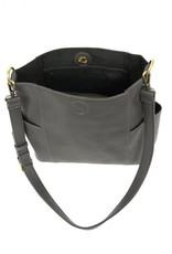 Charcoal Kayleigh Side Pocket Bucket Bag Set of 2