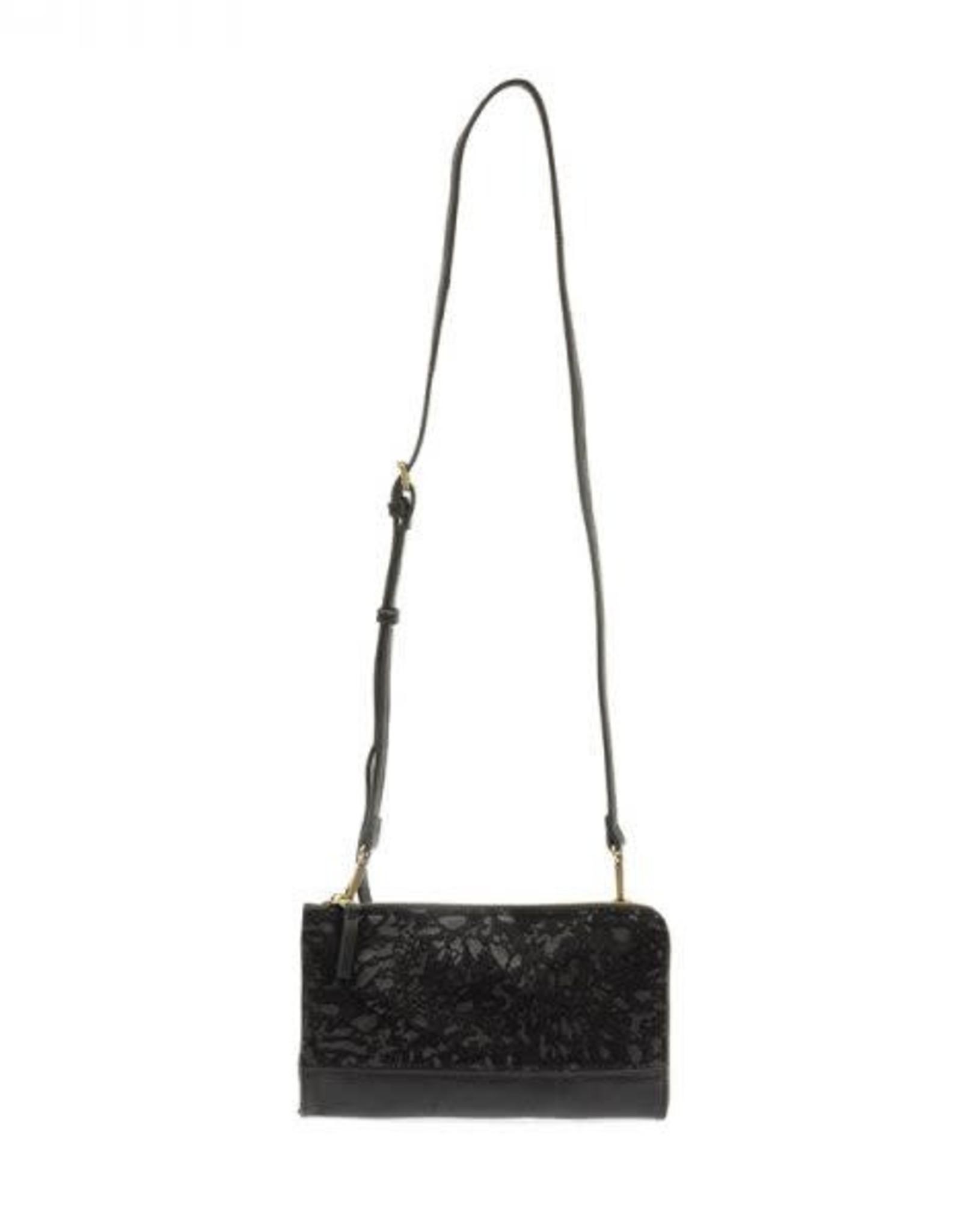 Black Faux Fur Abstract Convertible Wristlet Set of 2