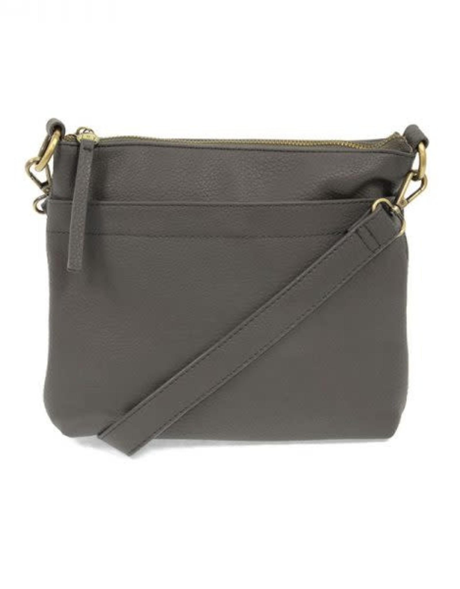 Charcoal Layla Top Zip Crossbody Bag