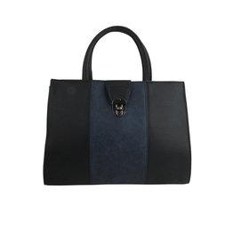Black w/ Blue Color Block Satchel