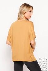 - Gold V-Neck Short Sleeve