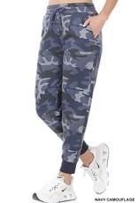 - Navy Camo Fleece Lined Joggers