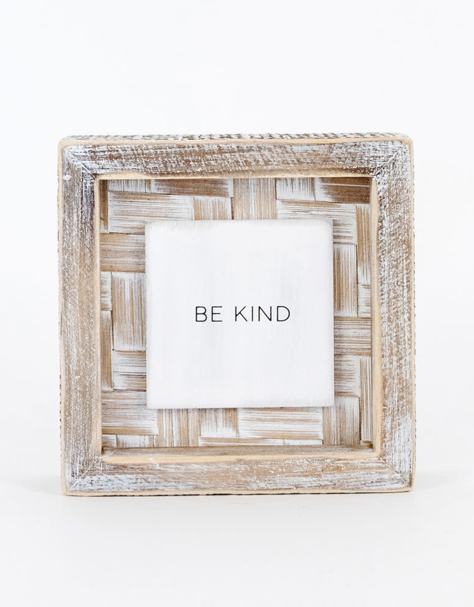 - Be Kind Bamboo Wood Framed Sign 5x5x1.5