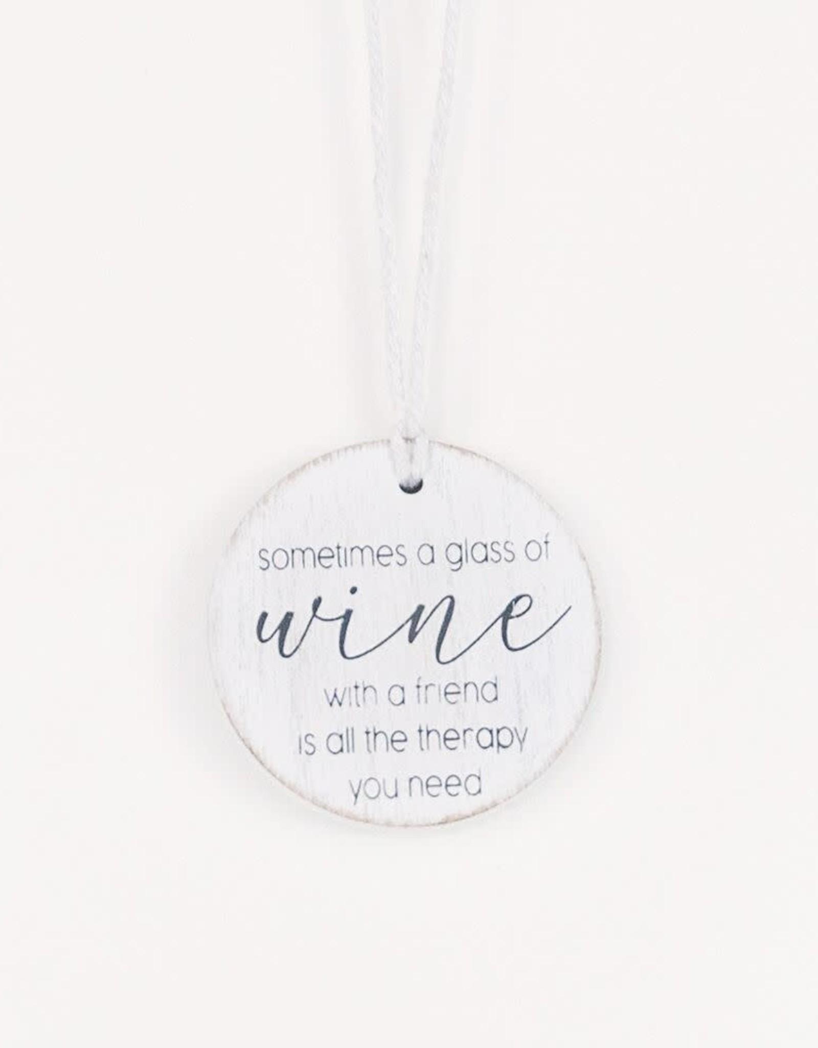 - Wine, Friend, Therapy Wine Bottle Charm