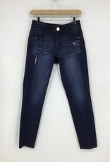 Democracy Medium Blue Vintage Destruct Skinny Jean