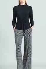 - Black/Ivory Geometric Print Wide Leg Pant