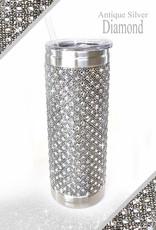 - Antique Silver Bubbles & Bling Tumbler