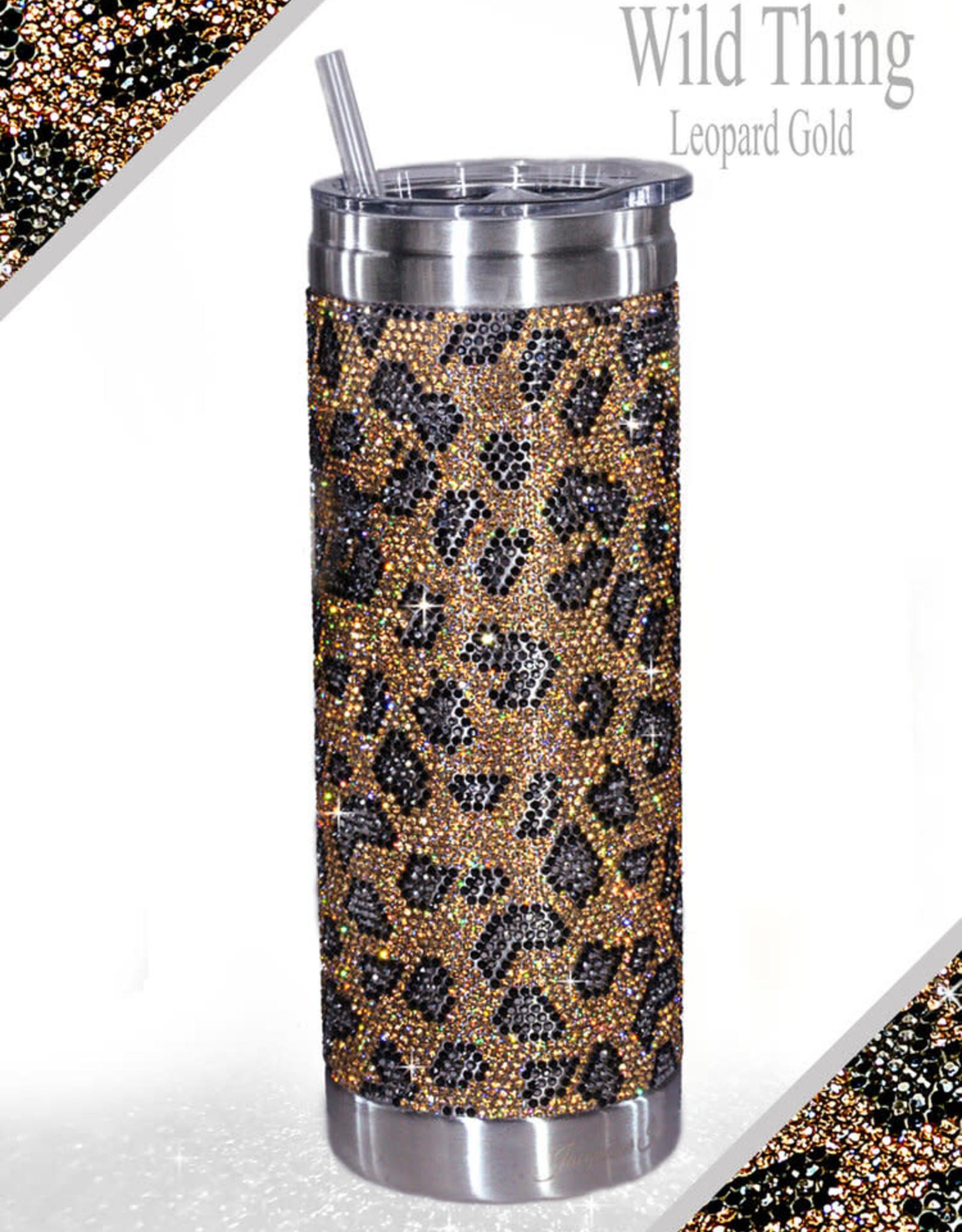 - Gold Leopard Bubbles & Bling Tumbler