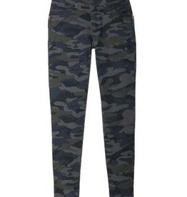 Democracy Olive Camo Side Zip Skinny Jean