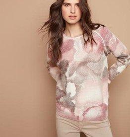 - Rose Print Reversible Raglan Long Sleeve