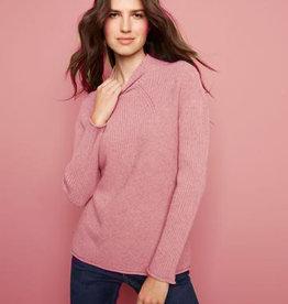 - Rose Long Sleeve Turtle Neck Sweater
