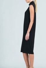 - Black Mock Neck Midi Tank Dress