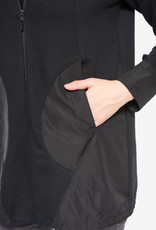 Joseph Ribkoff Black Zip-Up Jacket w/Mixed Material