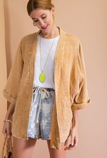 - Camel Mineral Washed Open Kimono