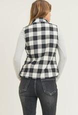 - Black/White Buffalo Plaid Trucker Vest