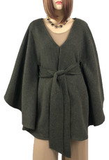 - Olive Belted Cape