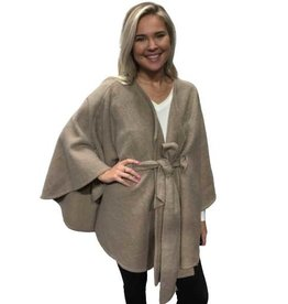 - Taupe Belted Cape