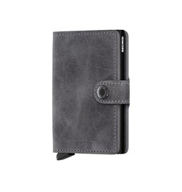 Secrid Wallets Secrid Miniwallet Vintage Grey-Black