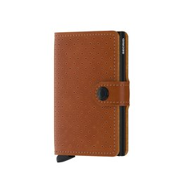 Secrid Wallets Secrid Miniwallet Perforated Cognac