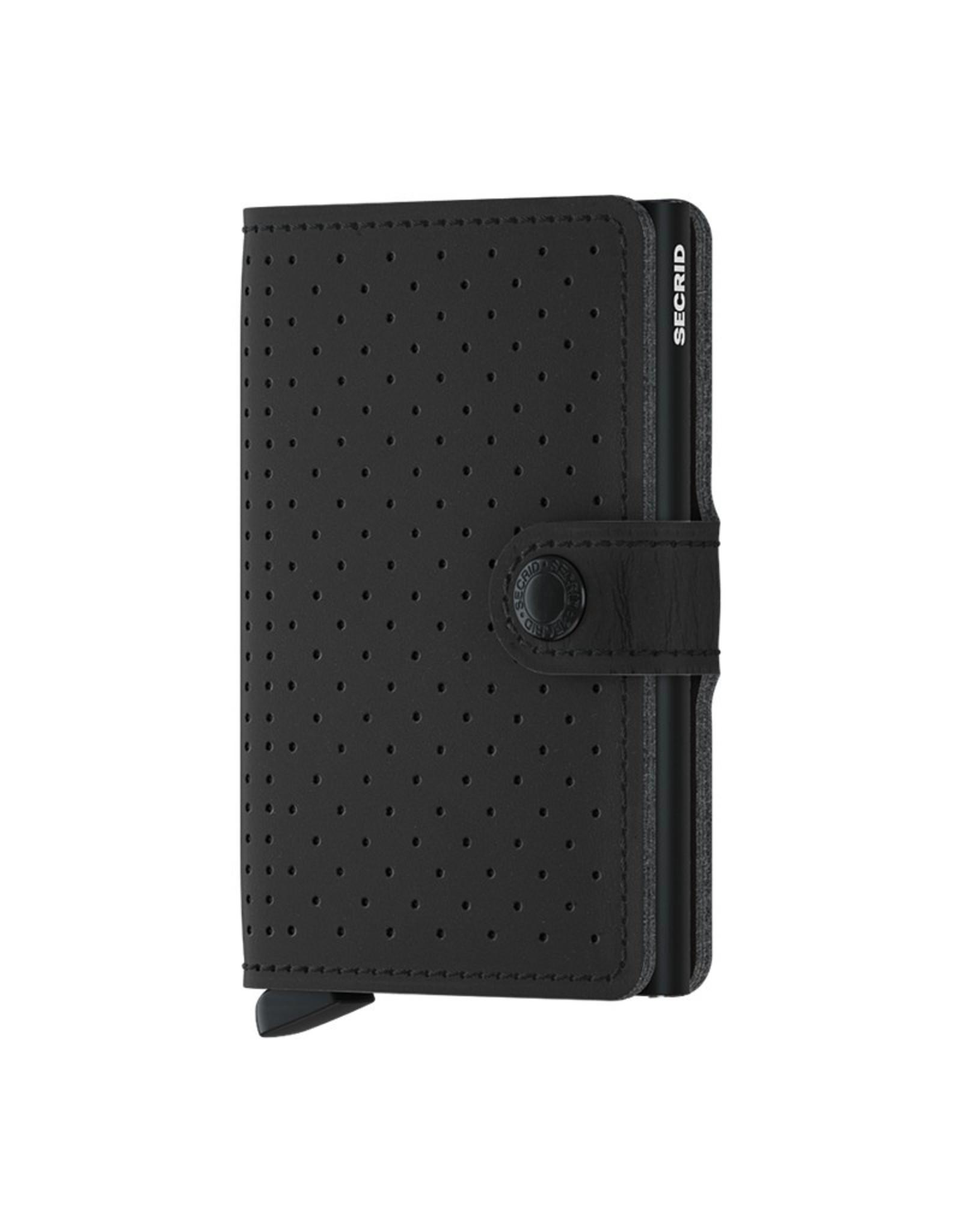 Secrid Wallets Secrid Miniwallet Perforated Black