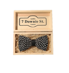 7 Downie St. 7 Downie St. Feather Bow Tie Black / Full Dots
