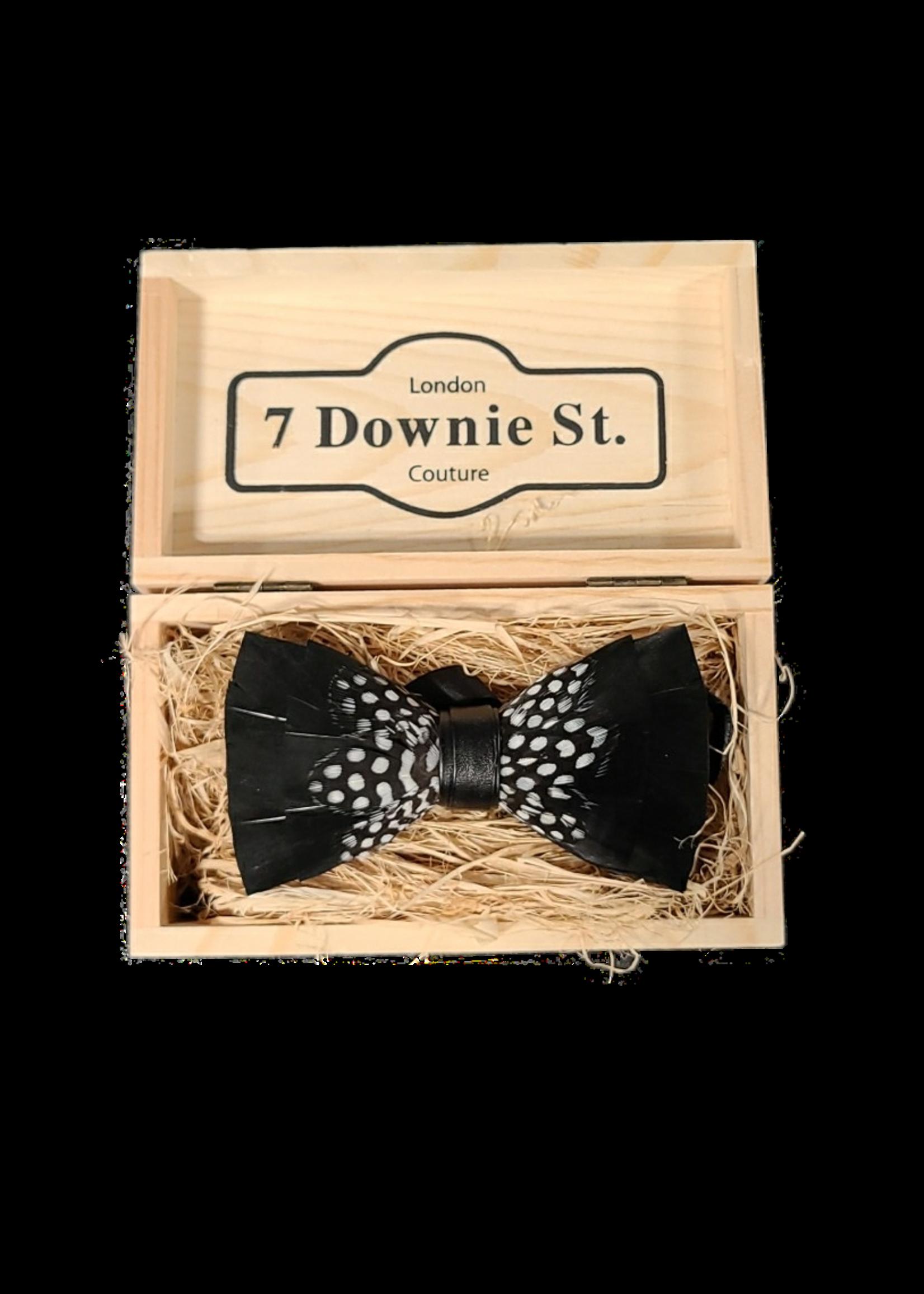 7 Downie St. 7 Downie St. Feather Bow Tie Black / Mid Dots