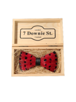 7 Downie St. 7 Downie St. Feather Bow Tie Red / Full Dots