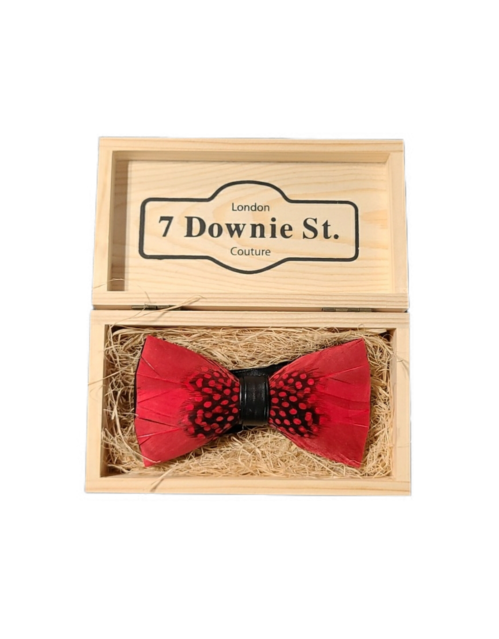7 Downie St. 7 Downie St. Feather Bow Tie Red / Mid Dots