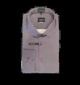 Venti Venti Dress Shirt Brown Navy