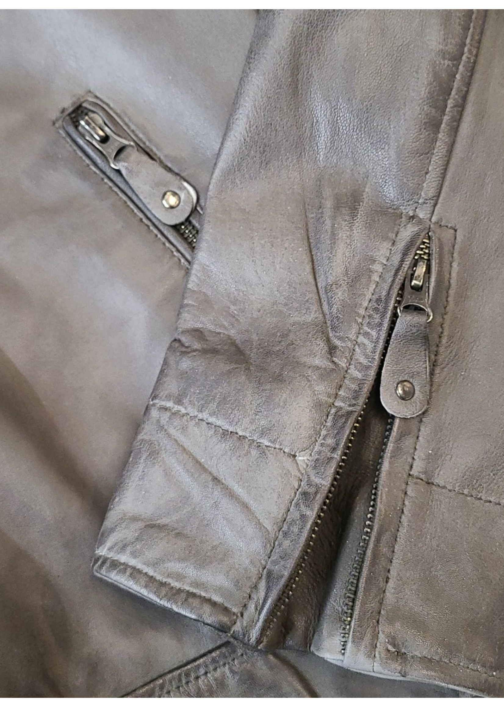 Ocean West Ocean West Leather Jacket 4015