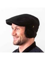 Hatman Of Ireland The Dubliner Ear Flap Cap Black