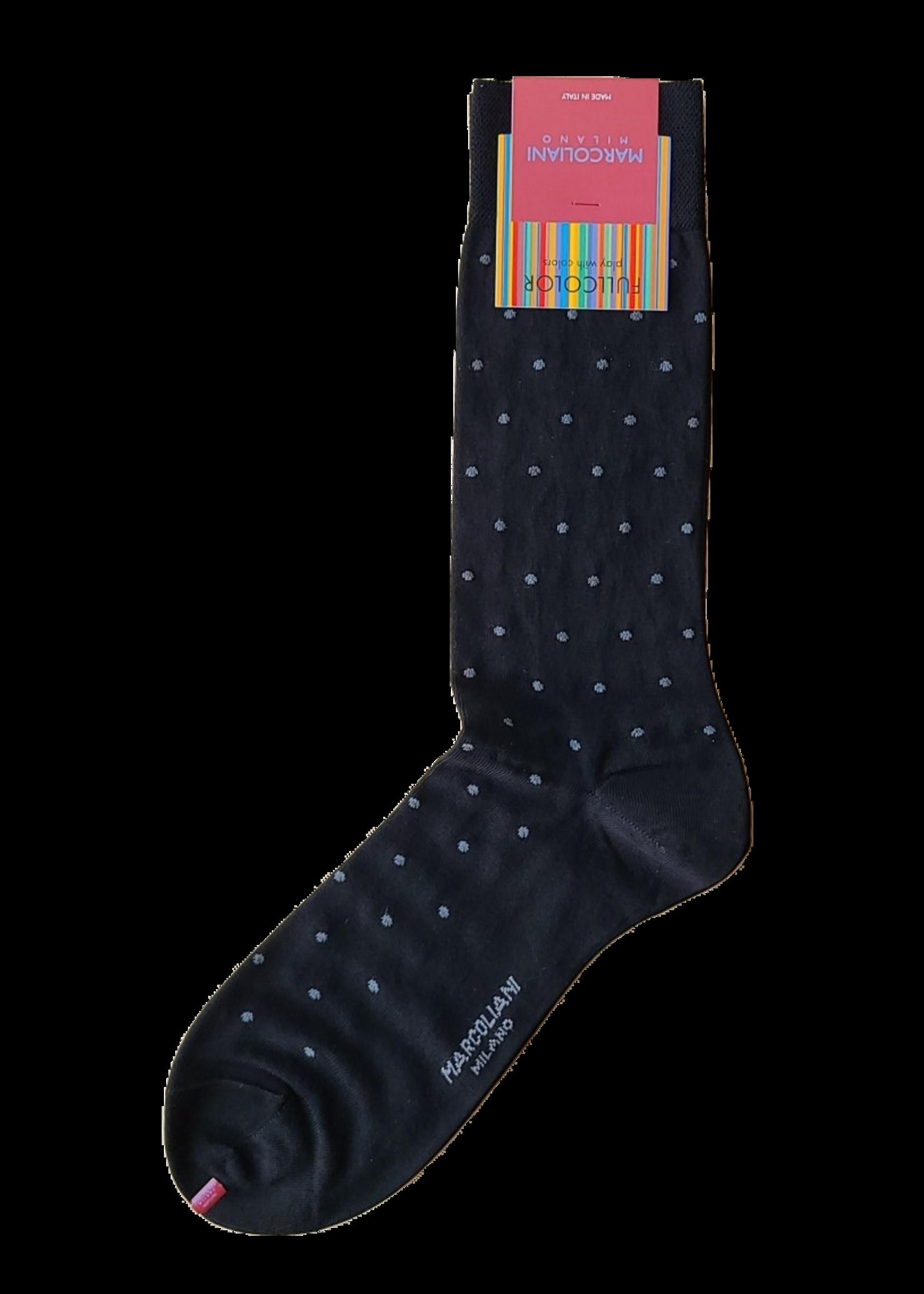Marcoliani Marcoliani Sock Black Polka Dot
