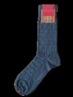 Marcoliani Marcoliani Sock Asphalt Blue Polka Dot