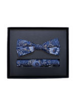 Venti Venti Bow Tie & Pocket Square 5435