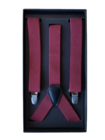 Venti Venti Suspenders Burgundy