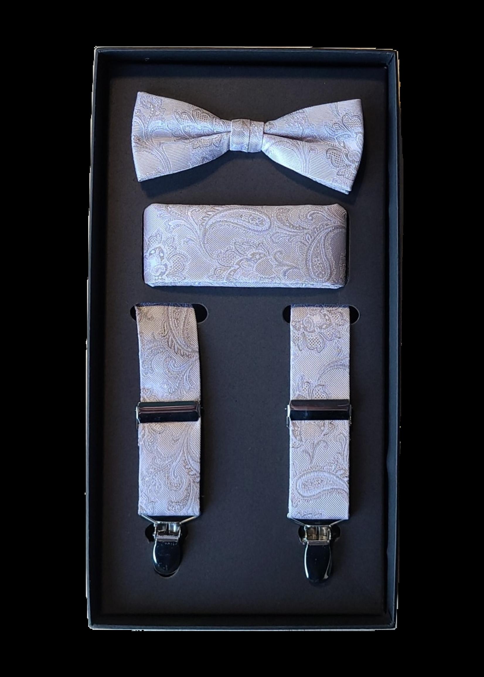 Venti Venti Suspender Set Cream Paisley