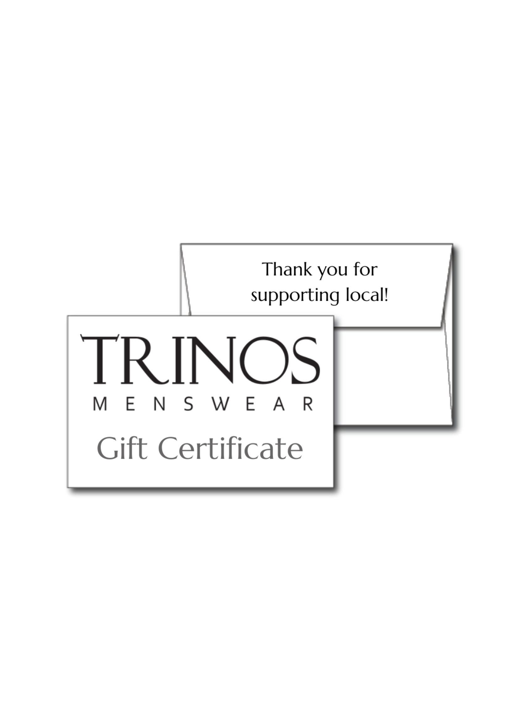 Gift Certificate (Redeemable in-store only)